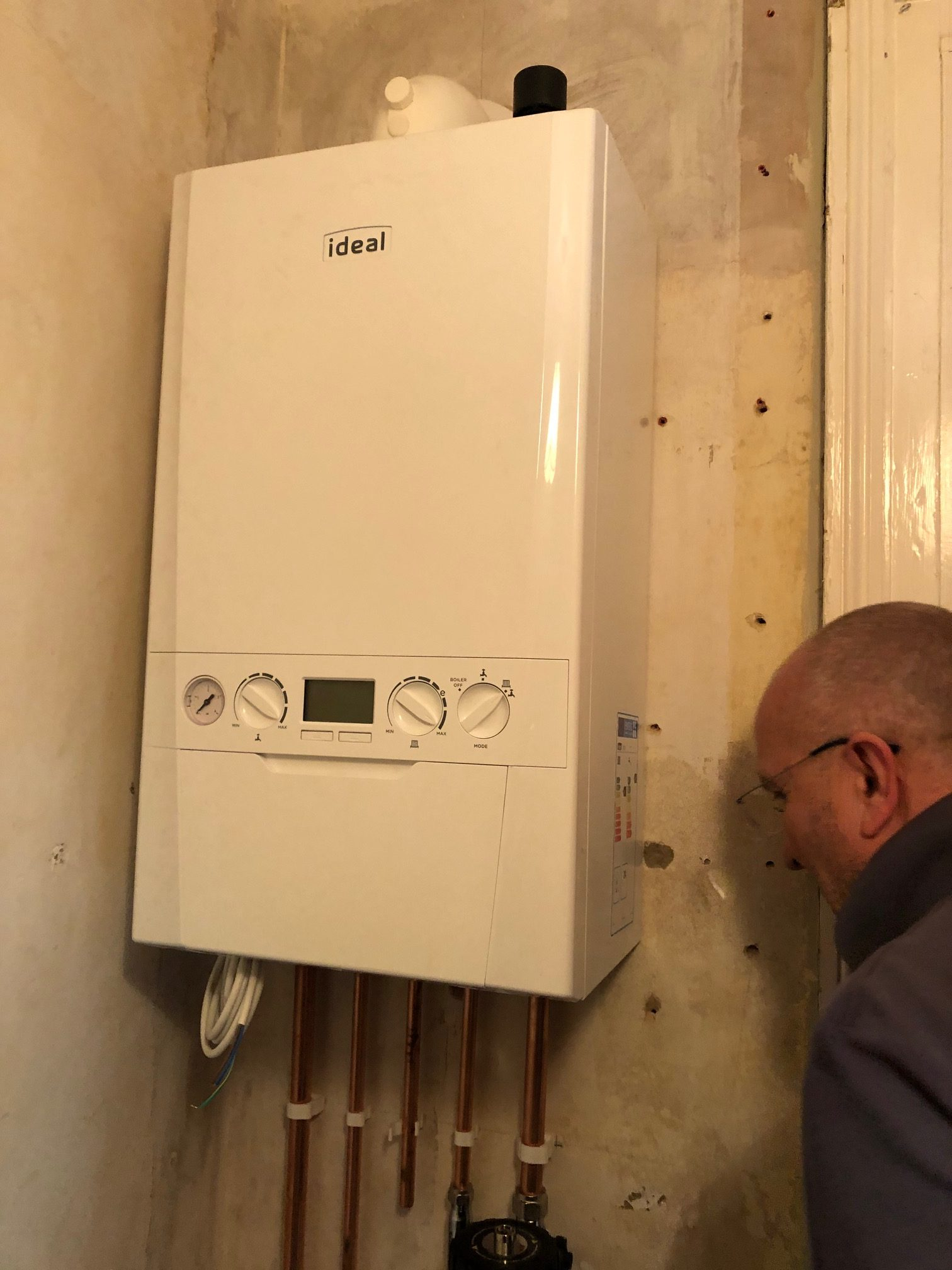 gas boiler installation