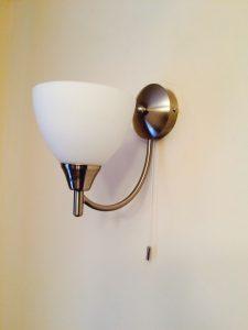 Installation of new wall lights